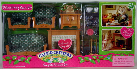 calico critters deluxe living room review - calico critters