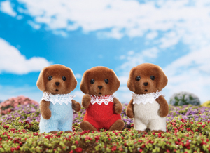 Chocolate Labrador Triplets Calico Critters